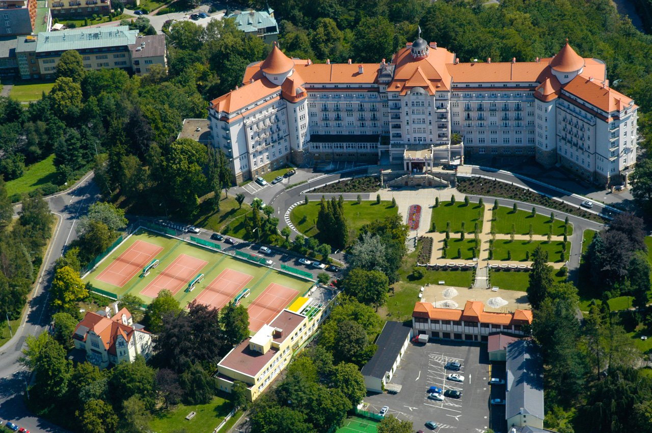 The Hotel Imperial, the Karlovy Vary (Karlsbad) dominant, was built before  the World War I as a luxury spa hotel for the most demanding clientele.